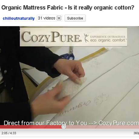 Organic Mattress Fabric: Is it really organic cotton?