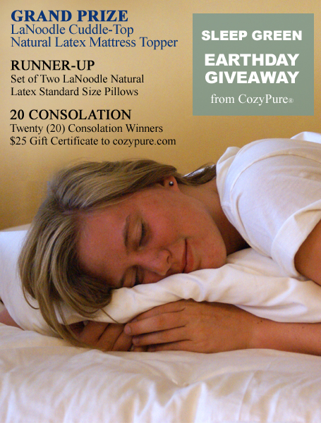 Sleep Green CozyPure Earthday Giveaway