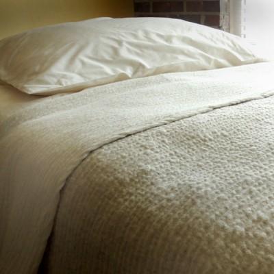 Matelasse Flax Linen Knit Blanket Organic Comfort Zone