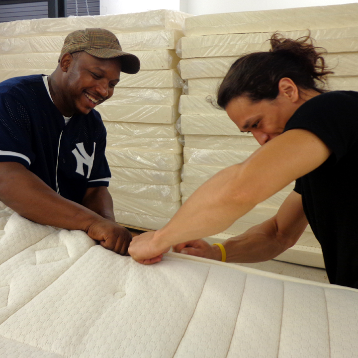 Making an Organic Mattress with a Smile