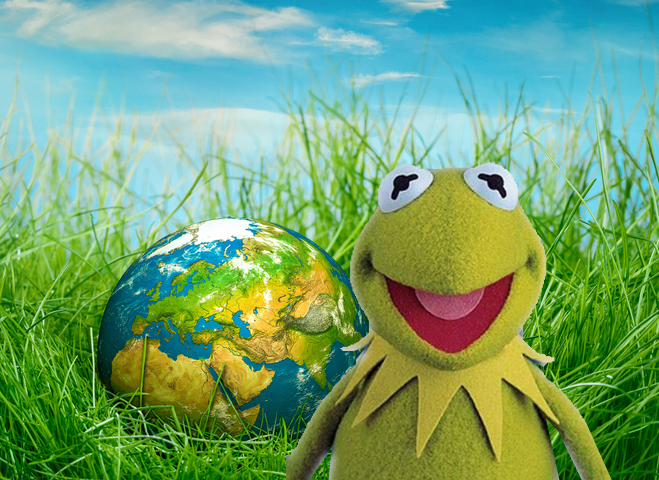 Kermit Was Wrong: It Is Easy Being Green