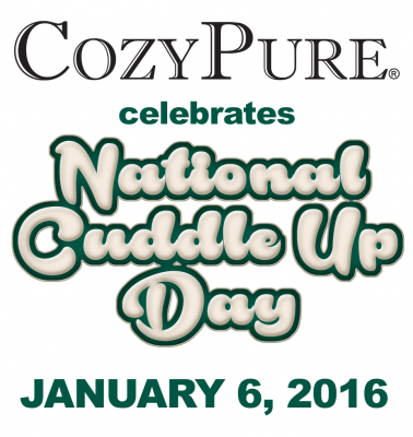 To celebrate National Cuddle Up Day on Jan. 6, CozyPure is hosting contests on Facebook and Instagram.