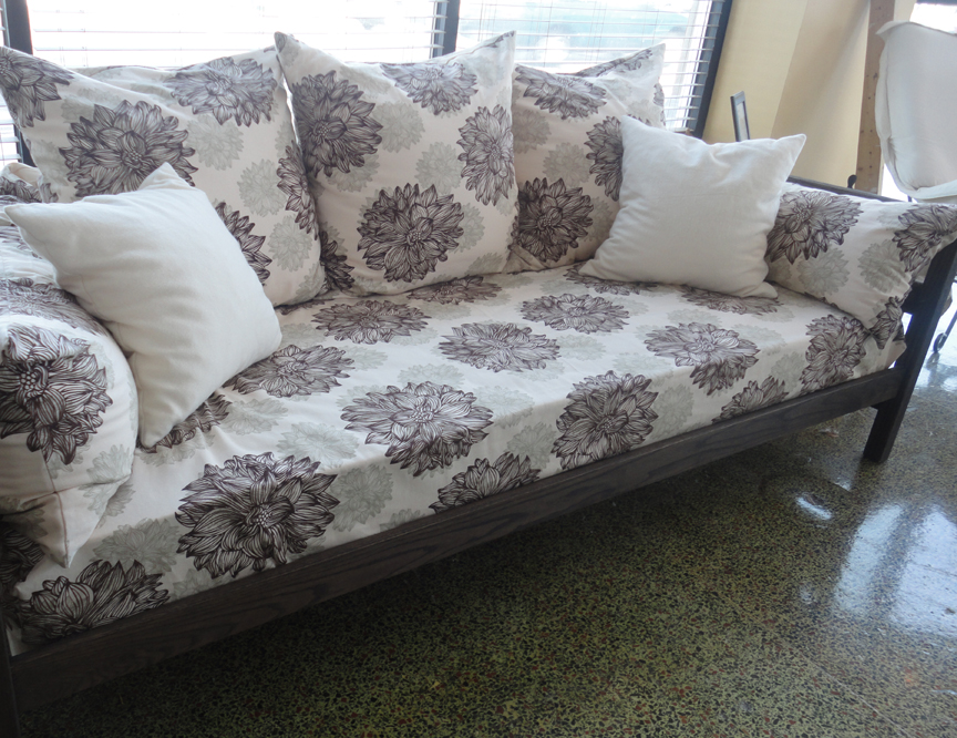 The making of a new and improved organic sofa day bed.